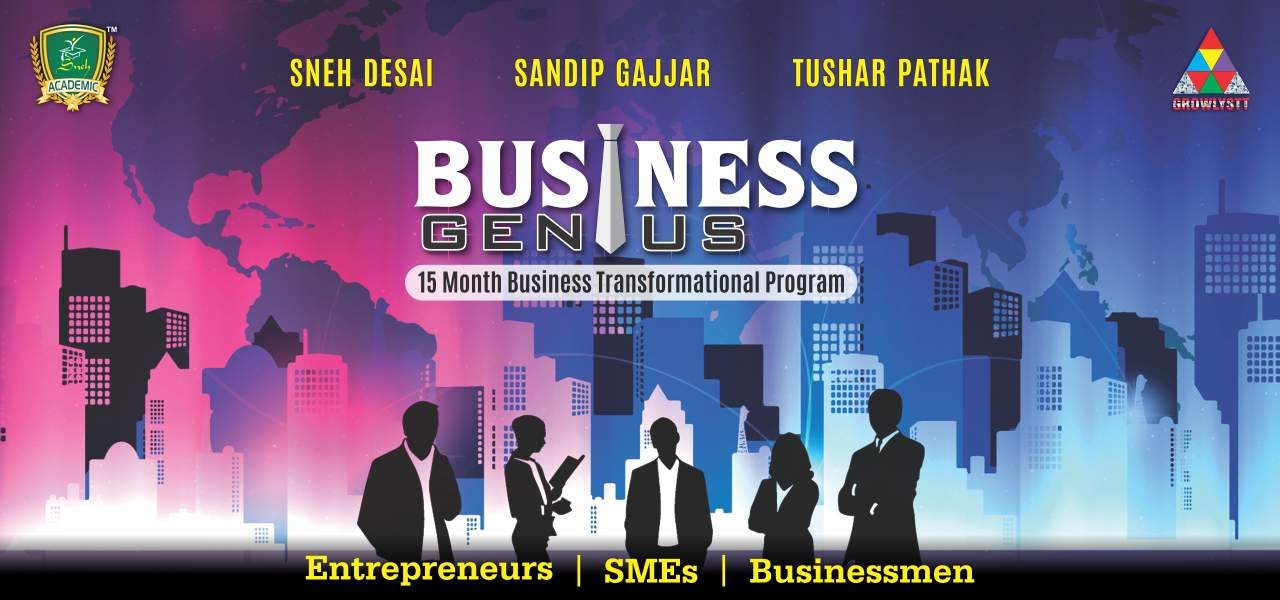 Business Genius Workshop Sandip Gajjar Business Coach In Ahmedabad Sneh Desai Tushar Pathak Business on Autopilot