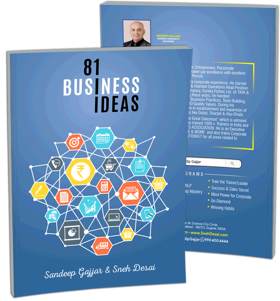 81 Business Ideas Book - Free by Sandip Gajjar Business Coach In Ahmedabad & Sneh Desai